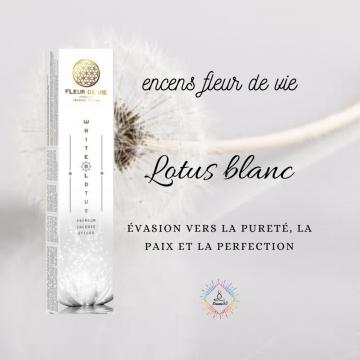 Encens Fleur de Vie Lotus Blanc