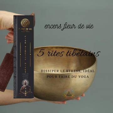 Encens Fleur de Vie - 5 Rites Tibétiens - Five Tibetan Rites