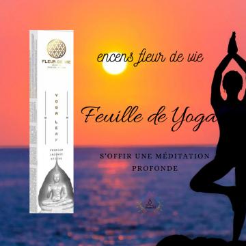 Encens Fleur de vie Yoga Leaf - Feuille de yoga
