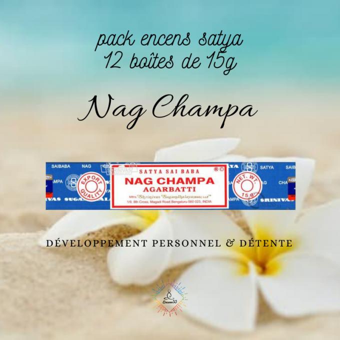Pack Encens Satya Nag Champa 15g