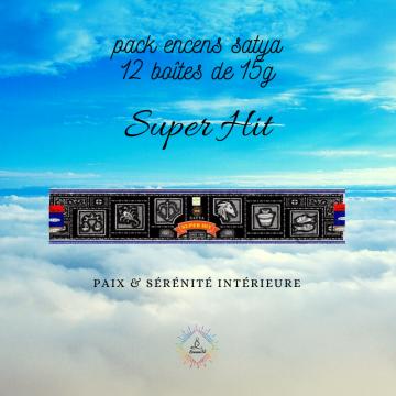 Pack Encens Satya Super Hit 12 boîtes de 15g