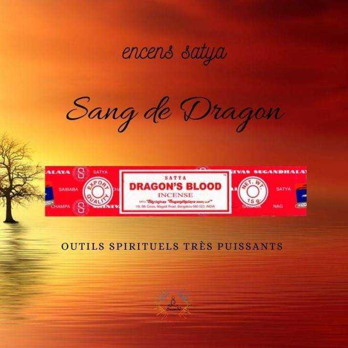 Encens Indien Satya Sang de Dragon 15g