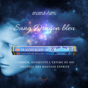 Encens Hem Sang de Dragon Bleu 20g